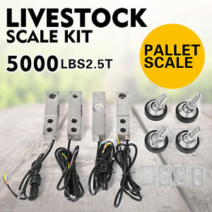 2 5t 5500lbs Livestock Scale Load Cell Kit Agriculture Durable Floor Scale
