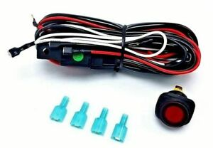 Nilight Off Road Atv Jeep Led Lightbar Wiring Harness 2 Leads On Off 40amp 12v