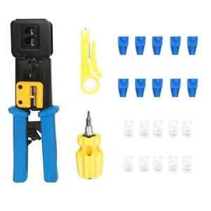 Network Wiring Cable Wire Cutter Crimper Set Crimping Stripping Plier Tools