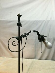 Vtg Cast Iron Victorian Floor Lamp Pull Chain And Cord 60in