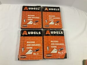 Vintage Audels Masons And Builders Guide 4 Volume Set 1963 Hc dj