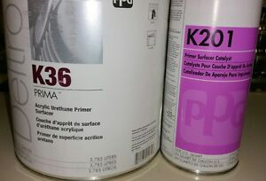 Ppg K36 Acrylic Urethane Primer Surfacer 2 Gallon With 2 Quarts Of K201