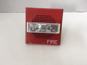 Wheelock Et70 24mcw Fire Alarm Speaker strobe Red