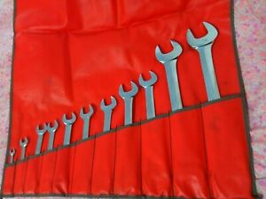 Snap On Metric 11 Piece Open End Wrench Set 6 32 Mm C116b