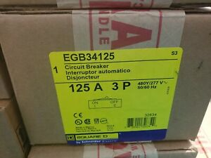 Egb34125 Square D New In Factory Sealed Boxes 10 Avail Free Shipping