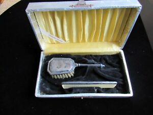 Vintage Sterling Silver Baby Brush And Comb Set