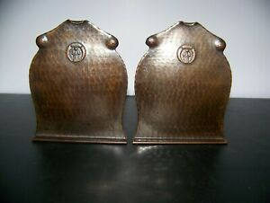 Antique Old Mission Koppercraft Bookends 1920 S Rare