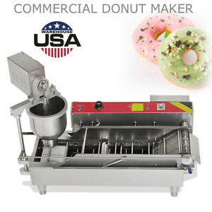 us Commercial Automatic Gas electric Donut Making Machine Donut Fryer 110v 6kw