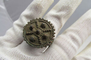 Rare Ancient Late Roman Early Byzantine Ring With Cross