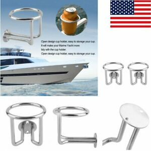 2pcs Practical Stainless Steel Car Boat Cup Holder Use For Marine Yacht Durable