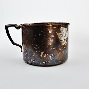 Vtg Oneida Community Silver Plated With Gold Wash Interior Baby Or Child Cup