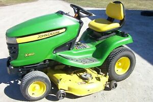 John Deere X360 Garden Tractor 48 Deck 22hp Kawasaki V twin Engine Good Mower
