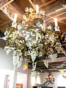 Chandelier Crystal And Gold Plated Bronze From Italy