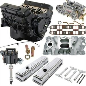 Jegs 7353k1 Small Block Chevy 350ci Crate Engine Kit Pre 1986 Cast Iron Cylinder