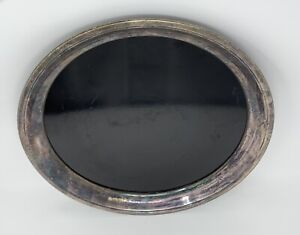 F B Rogers Silver Co Tray Westinghouse Micarta Vintage 14 Round Serving Tray
