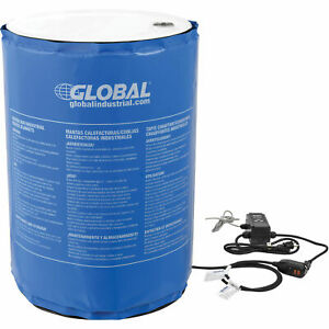 55 Gallon Insulated Drum Heater Blanket Adjustable Temperature Control To