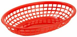 Winco Oval Red Fast Food Basket 3dozen pack Of 1