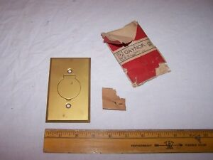 Vintage Gaynor Brass Outlet Cover With Hinged Lid