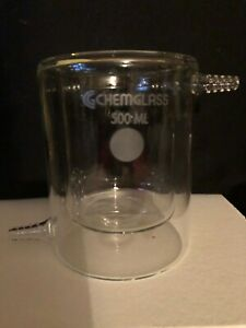 Chemglass 500 Ml Jacketed Reaction Beaker New In The Box Cg 1103 04