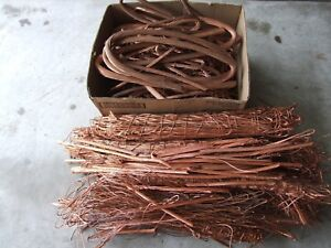 325 Lbs Copper Scrap Metal Wire Bare Bright 1 Cu Craft Art Recovery Cast Diy