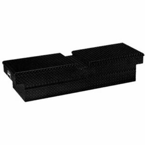 Lund 79350 Cross Bed Tool Box Dual Gull Wing Lids Black Diamond Plate Length 63