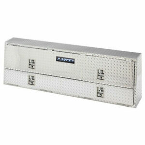 Lund 8272 Top Mount Tool Box Two Compartments Brite Diamond Plate Length 72 Wid