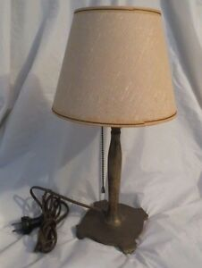 Vintage Pairpoint Signed Brass Desk Lamp With Shade 15 5