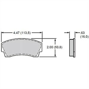 Wilwood 15a 5936k B Polymatrix A Bedded Brake Pads Calipers Ap Alcon Thickness