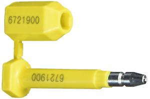 Novavision Brand Bolt Seal For Cargo Containers And Truck Trailers Yellow 50