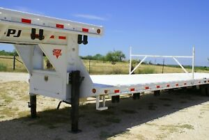 Pj Trailer 38 Ld Gooseneck Flatbed With Air Ride And Steel Deck