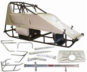Triple Xxx Sprint Car Chassis Kit 4130 Chrom Moly Deluxe Kit And 4 Torsion Bars