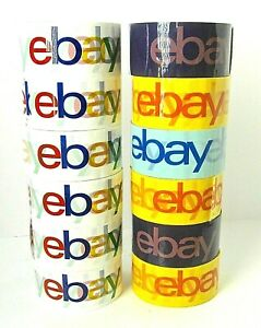 12 Rolls Ebay Branded Logo Shipping Tape 6 Classic 6 Mixed Colors New Sealed