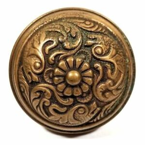 Antique Bronze G 10900 Entry Doorknob Hardware Victorian Door Knob Collectible