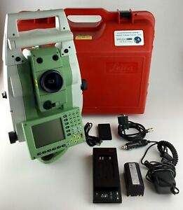 Leica Tcrp1201 R300 1 Robotic Total Station With Geocom License Reconditioned