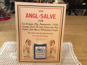 Vintage Apothecary Store Display Angl Salv With Empty Box Quack Medicine