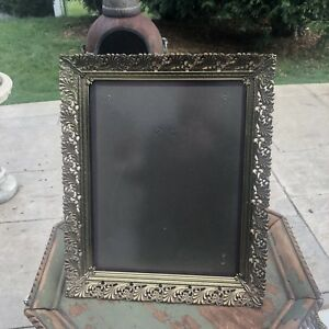 Vintage Table Or Wall Picture Frame Brass Metal 16 5x13 5 06