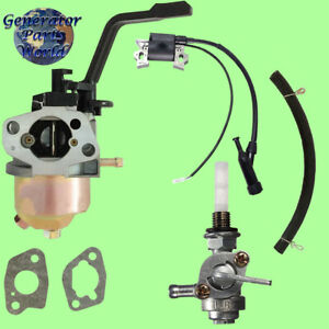 Champion Carburetor W Left Petcock Ign Coil For Cpe Generator 46516 46517 45633