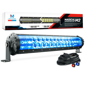 Mictuning M1s 19 108w Led Light Bar Pod Iceblue Accent Rock Offroad Lamp 8460lm