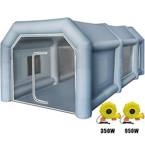 Inflatable Giant Spray Paint Booth Car Workstation Tent 8 4 5 3m Waterproof 2fan