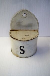 Antique Primitive Metal Wall Box Saltbox Kreamer