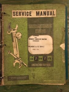 International Td 15 Crawler 175 C Loader Shop Service Repair Manual