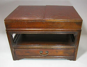 A Fine Korean Two Tier Wood Instone Chest With A Drawer