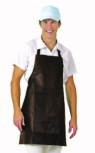 San Jamar Heavy Duty Bib Apron Brown Vinyl 25x28 Inch 1each pack Of 1