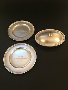 St Vincent S Hospital Silver Service Small Lidded Tureen And 2 Small Plates