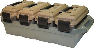 Ac4C Ammo 30caliber storage Crate 4-Can Ammunition Box Container Field Safe