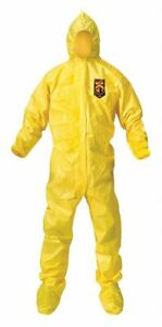 Kimberly clark Hooded Disposable Coveralls With Elastic Cuff Polyethylene