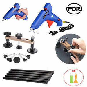 Car Paintless Dent Repair Removal Tools Bridge Puller Glue Gun Sticks Kit Us