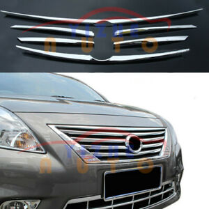 For Nissan Versa 11 13 Front Grille Chrome Middle Grill Decorate Trim 6pcs
