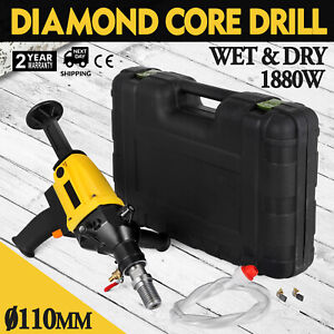 110mm Diamond Core Drill Concrete Drilling Machine Sewer Pipes 110v Rig Motor