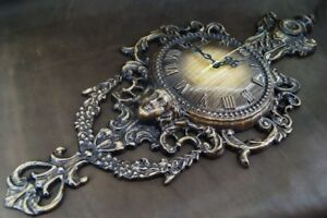 Carved Wooden Wall Clock Antique